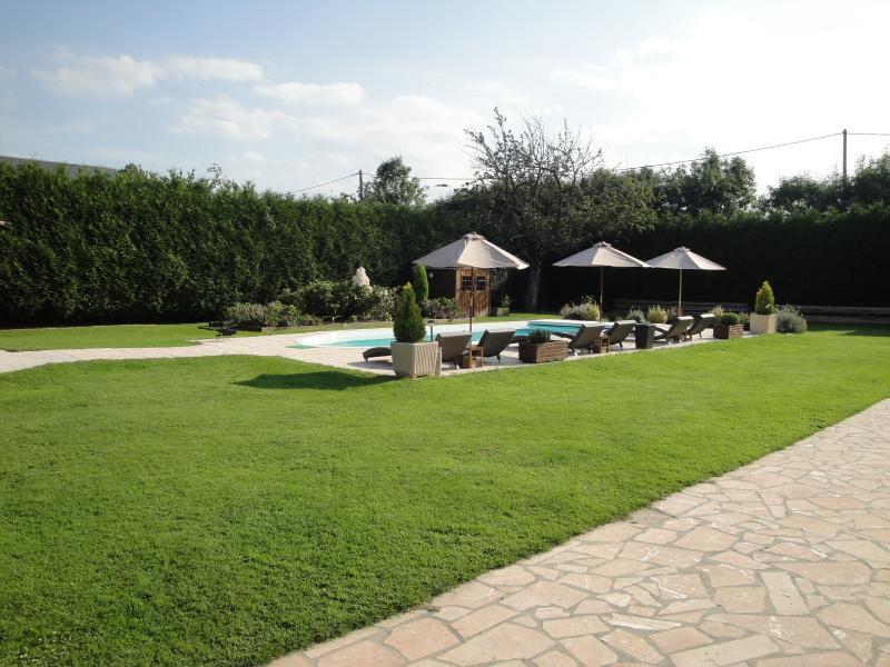 Jardin près de la piscine