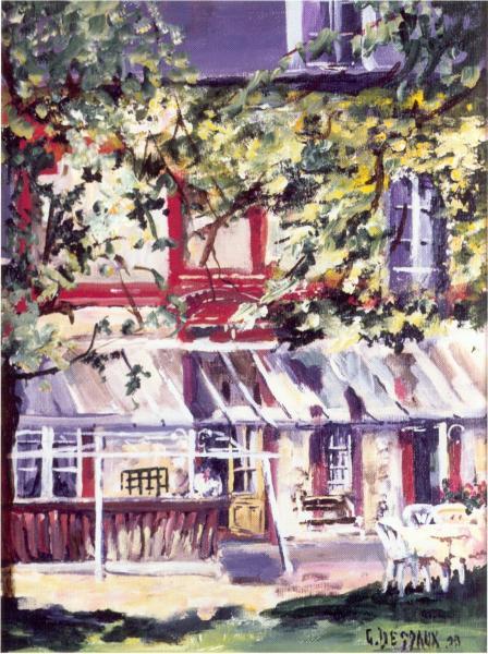 La Ferme de La Grande Cour peinte par Claude Dessaux