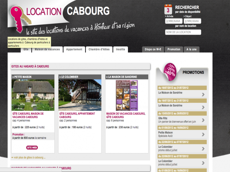 Location Cabourg