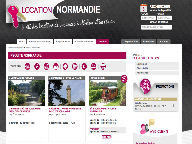 Location Normandie