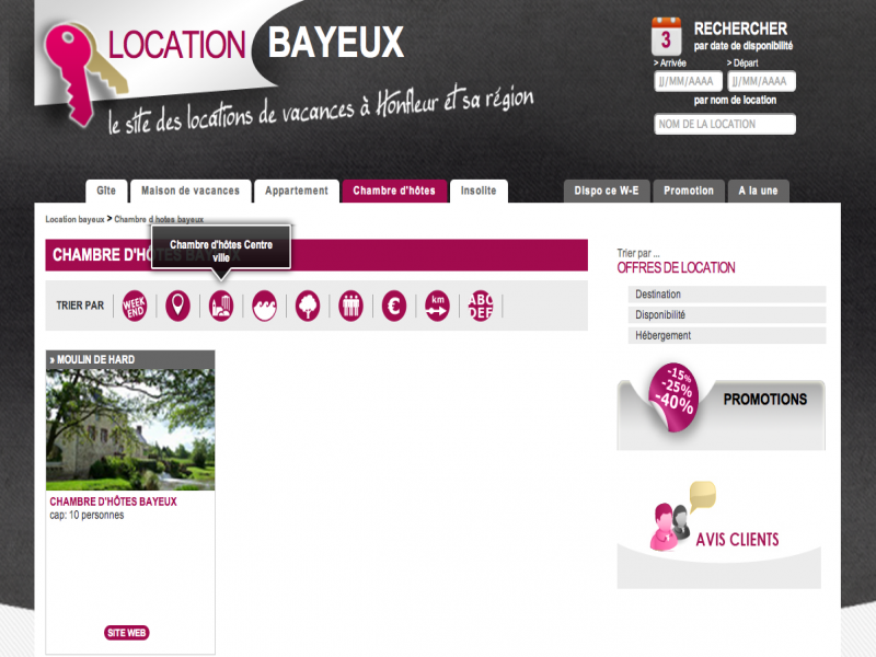Location Bayeux