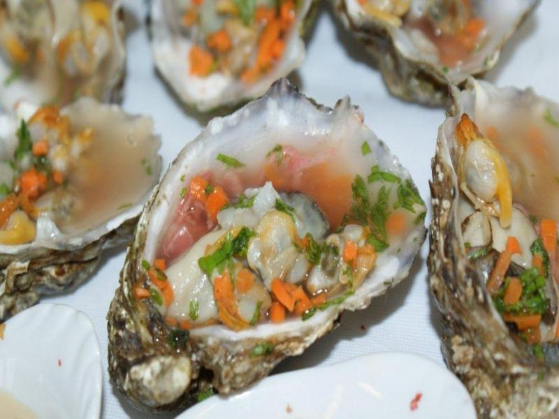 coquillage à la gelée d'huître
