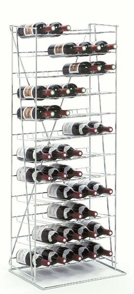 Les présentoirs à bouteilles en métal
