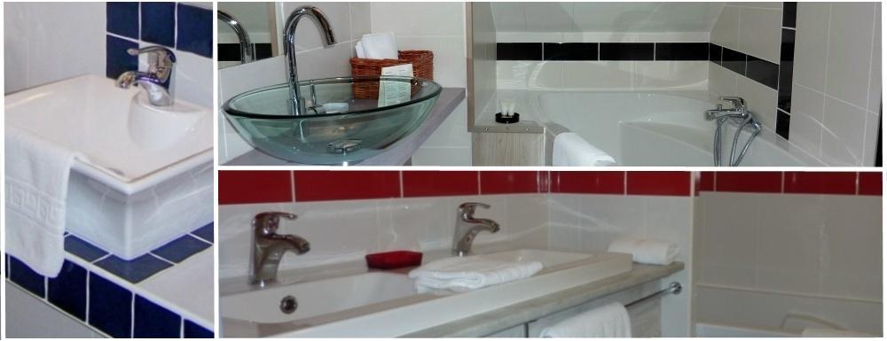 salles de bains rénovées de l'auberge de l'abbaye