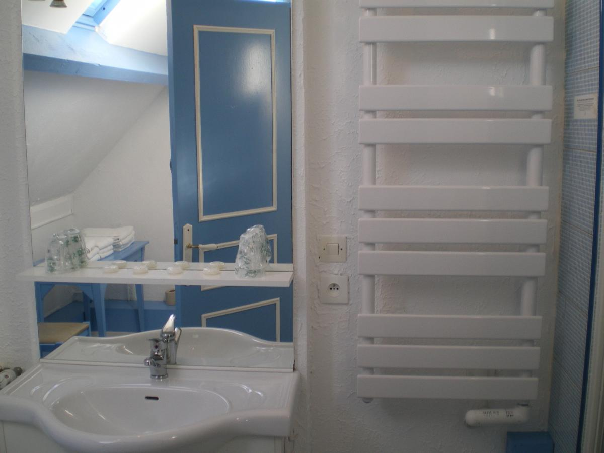 salle de bains du meublé