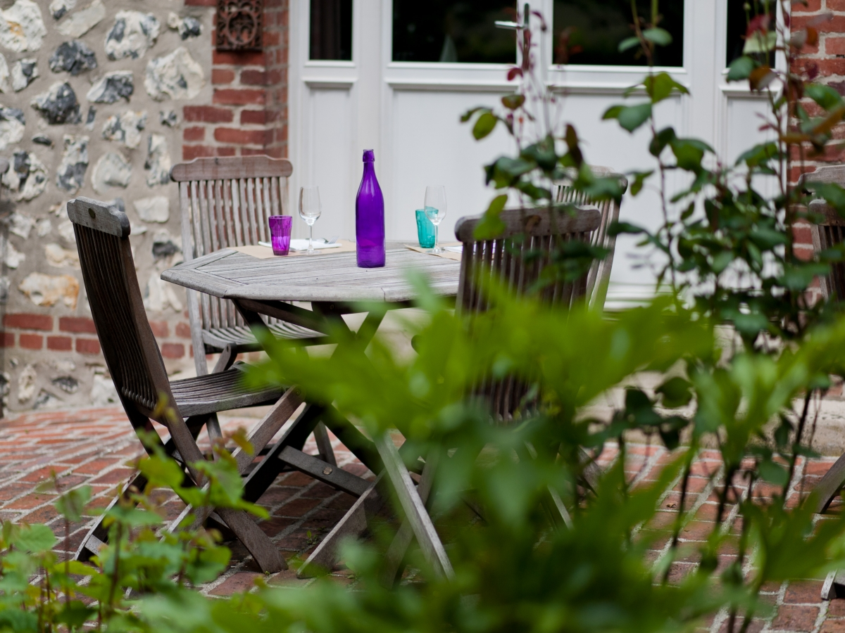Honfleur restaurants Au jardin, en terrasse