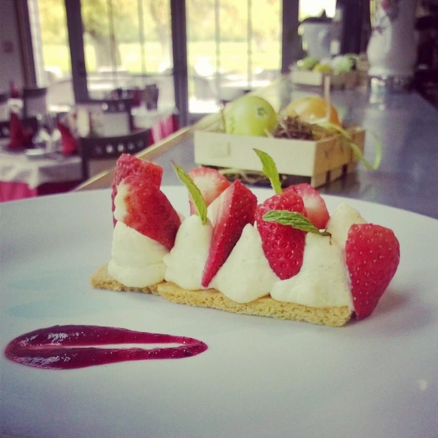 tarte aux fraises mousseuse mascarpone