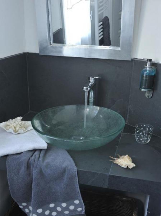Salle de douche chambre d'hôtes Navigateurs Honfleur