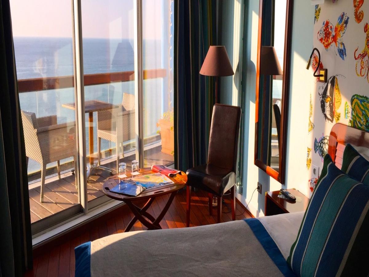 Chambre vue mer avec terrasse