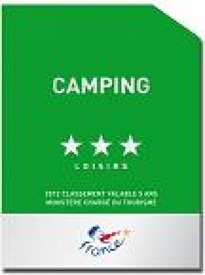 Le camping du golf est officiellement classé 3 étoiles mention loisir