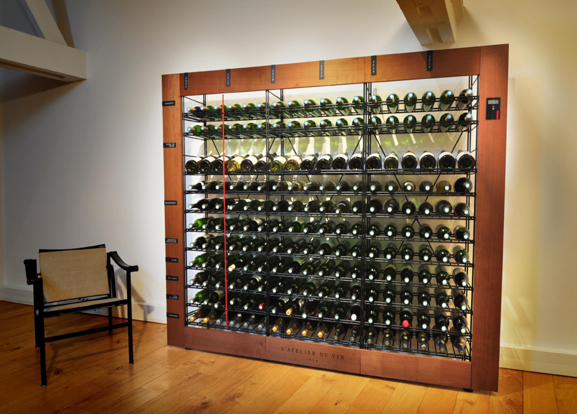 Les casiers à bouteilles, rangement du vin