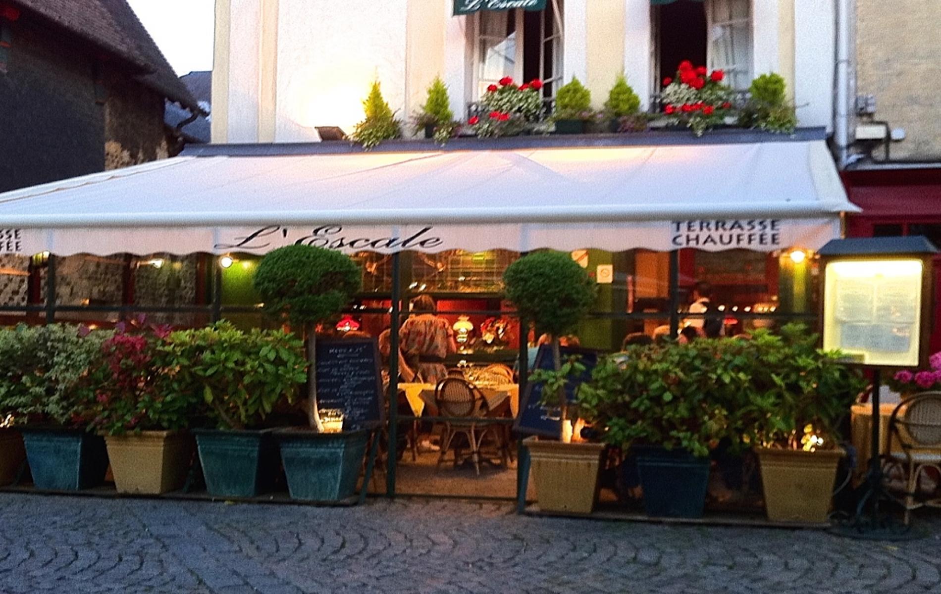 Terrasse chauffée du restaurant L'ESCALE