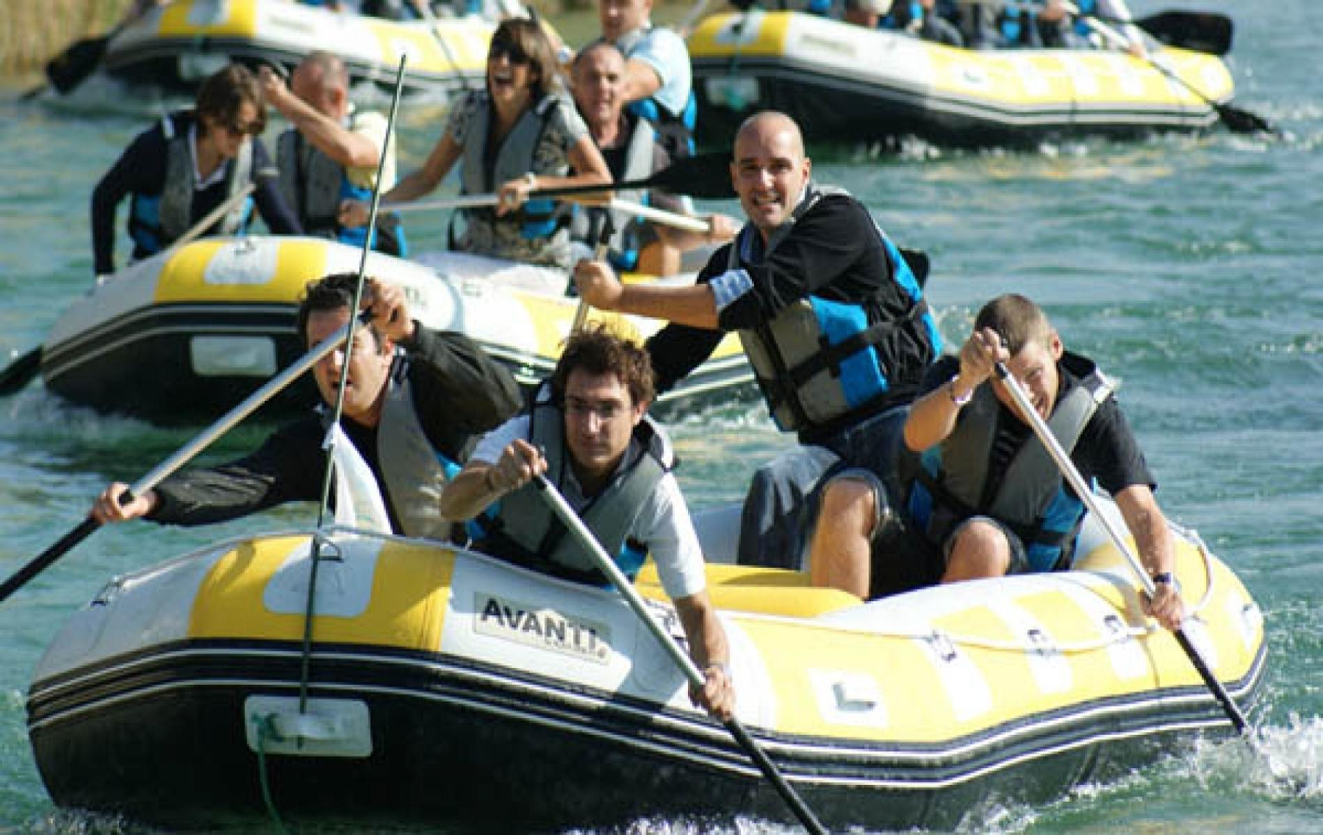 Activité kayak, esprit de cohésion à Deauville