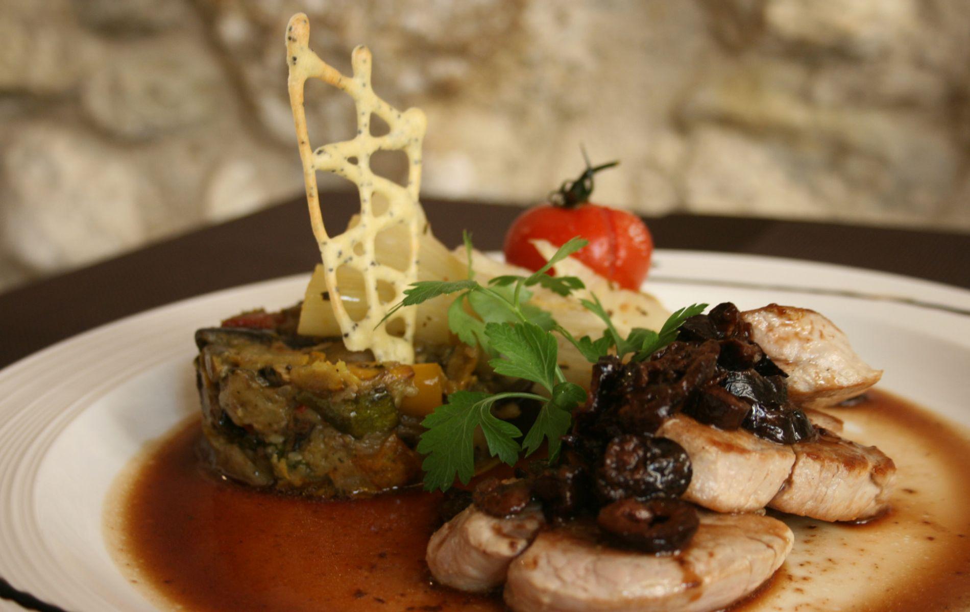Filet mignons de porc aux olives noires