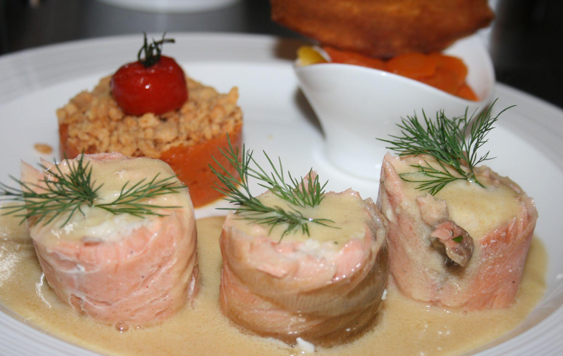 Médaillon de saumon sauce Viognier