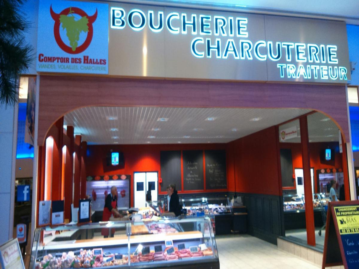 Le Comptoir des Halles, magasin de viande au Havre ~ Centre Commercial Bois Cany