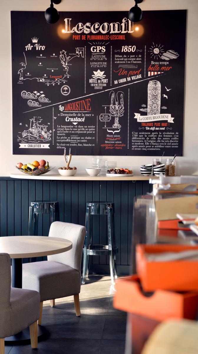 Salle de petit déjeuner / Bar