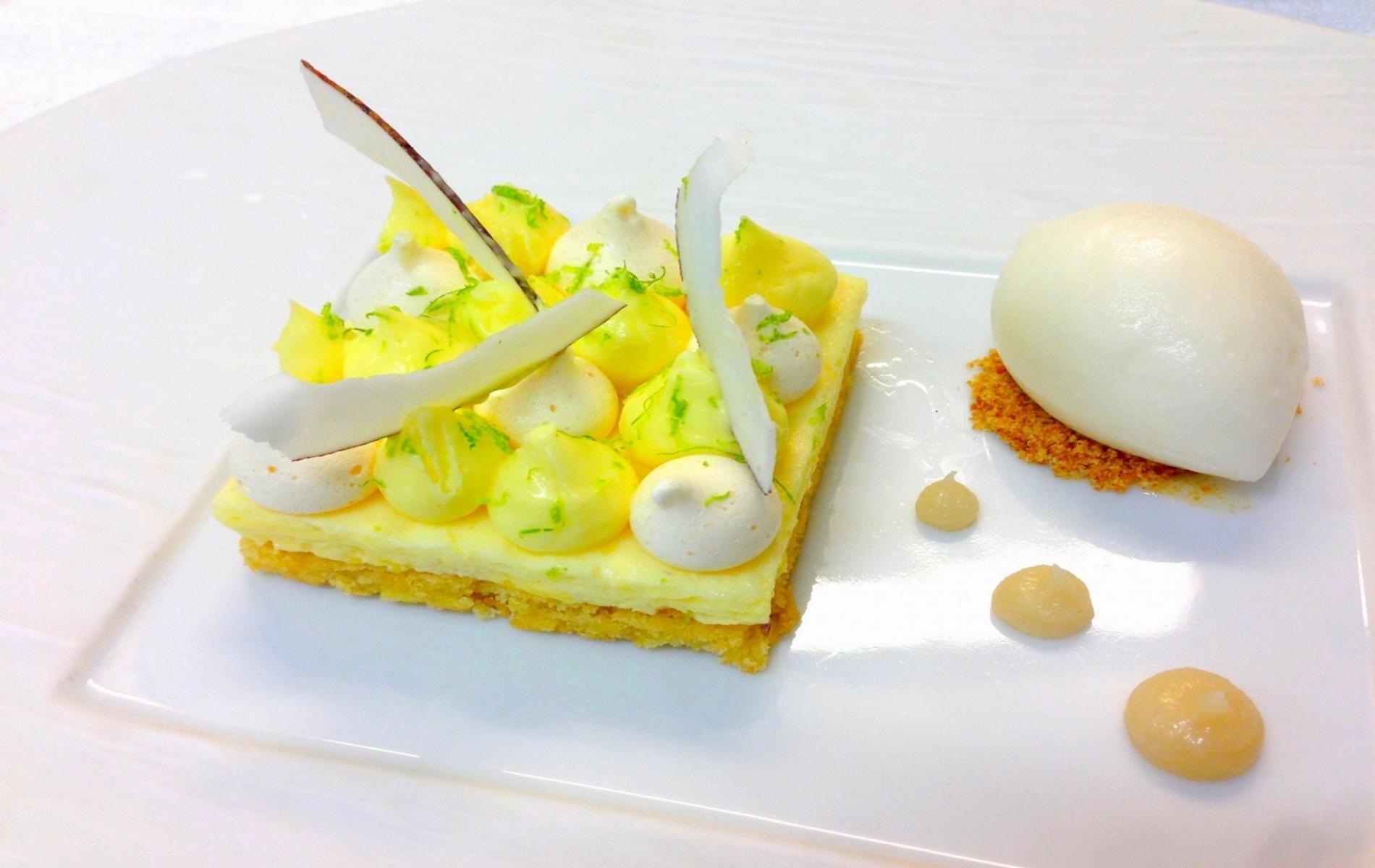Un dessert de notre chef pâtissier