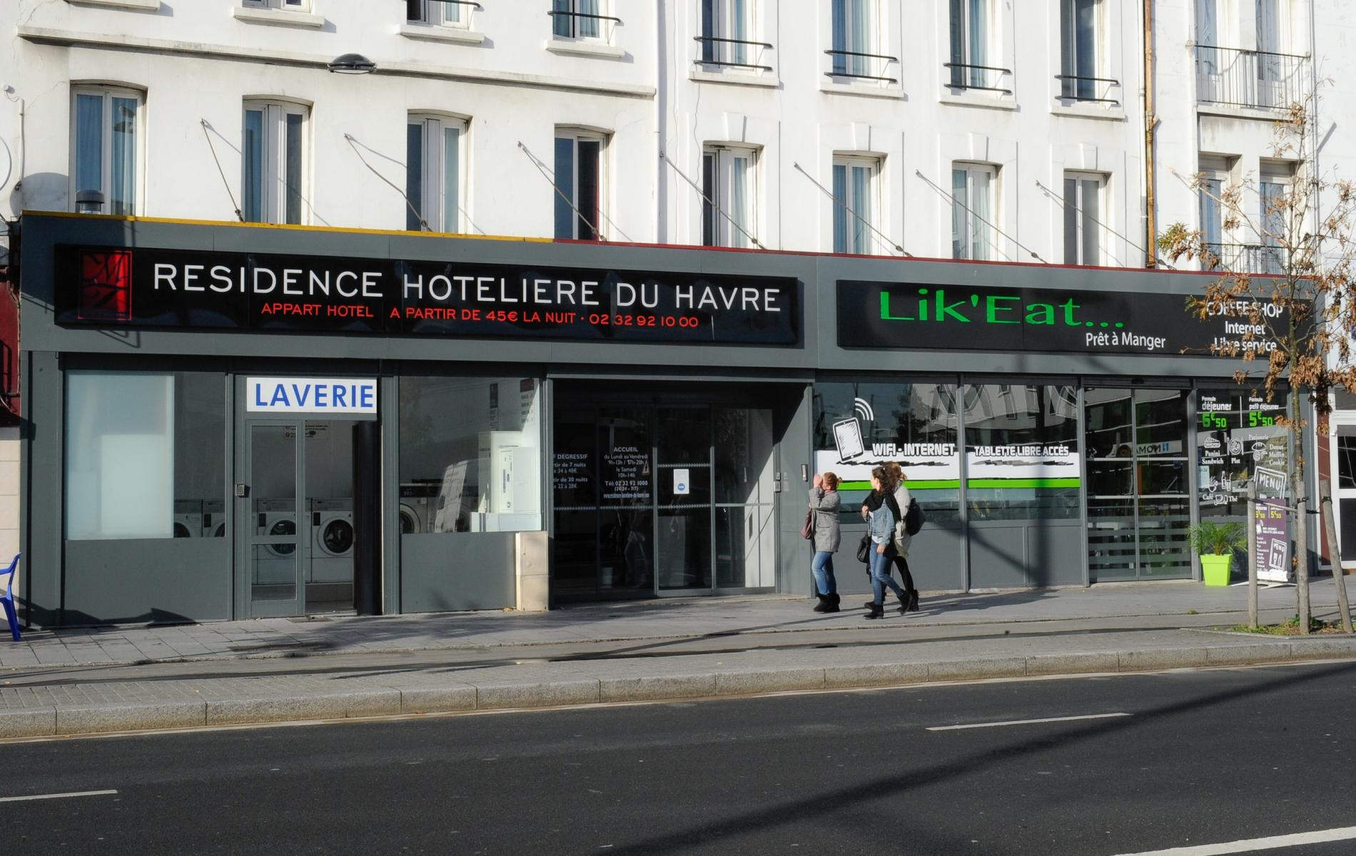 Façade Résidence Hôtelière du Havre