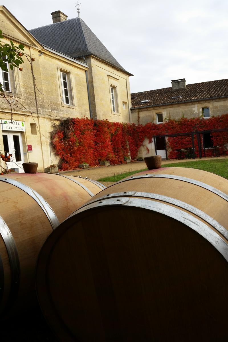 hotel lussac ch teau fleur de roques vineyard tour and wine tasting. Black Bedroom Furniture Sets. Home Design Ideas