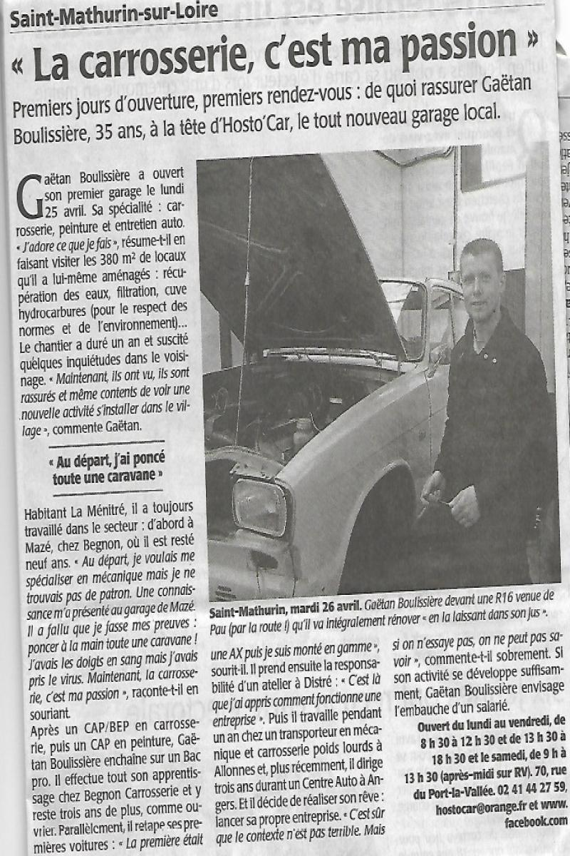 Article du courrier de l'Ouest
