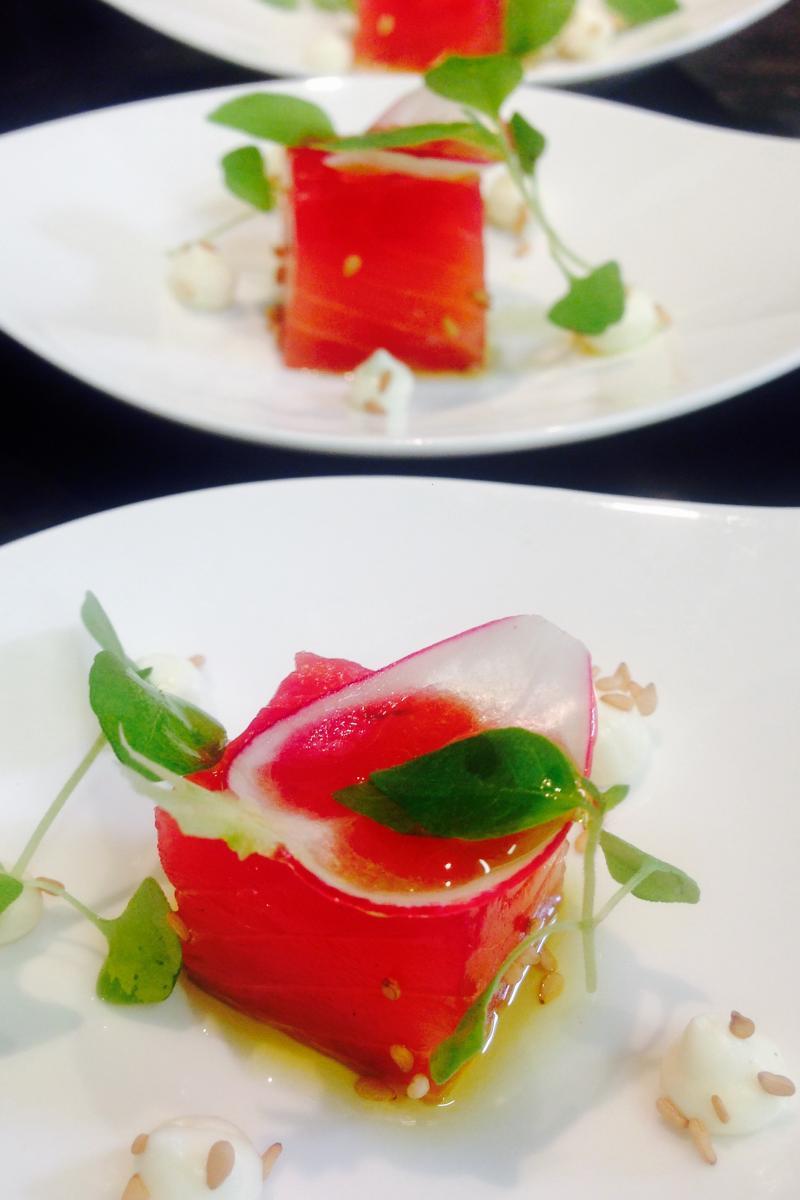 amusette de saumon à la betterave