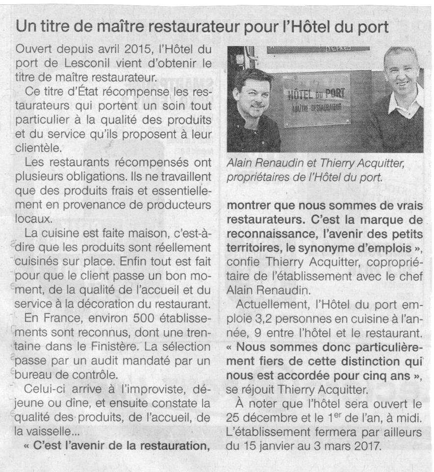 Press Review N°1