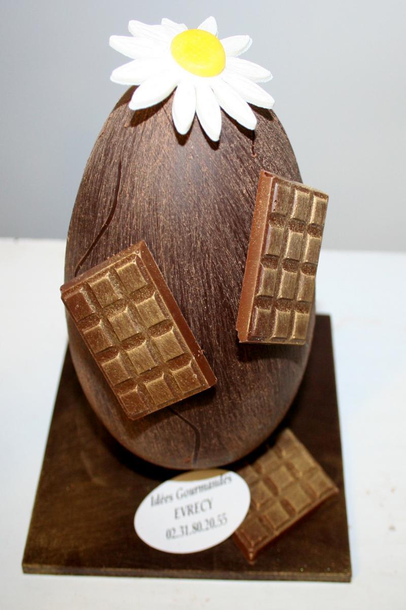 ?uf brossé en chocolat