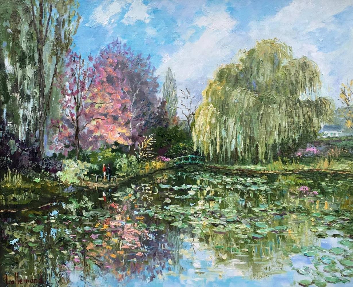 Soleil d'automne sur l'étang