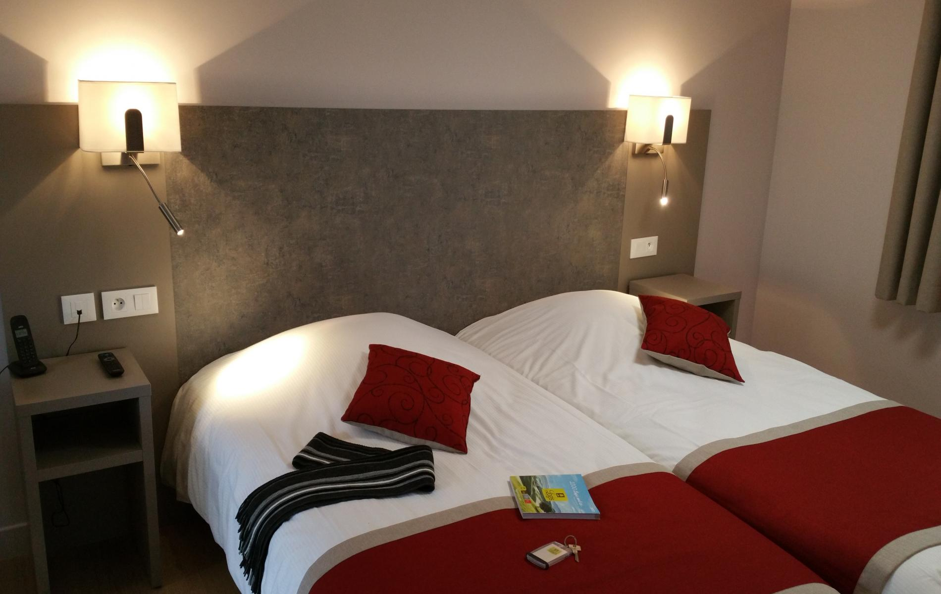 Appart Hotel, Studio, Lodging. Bedroom 2 beds (twin)