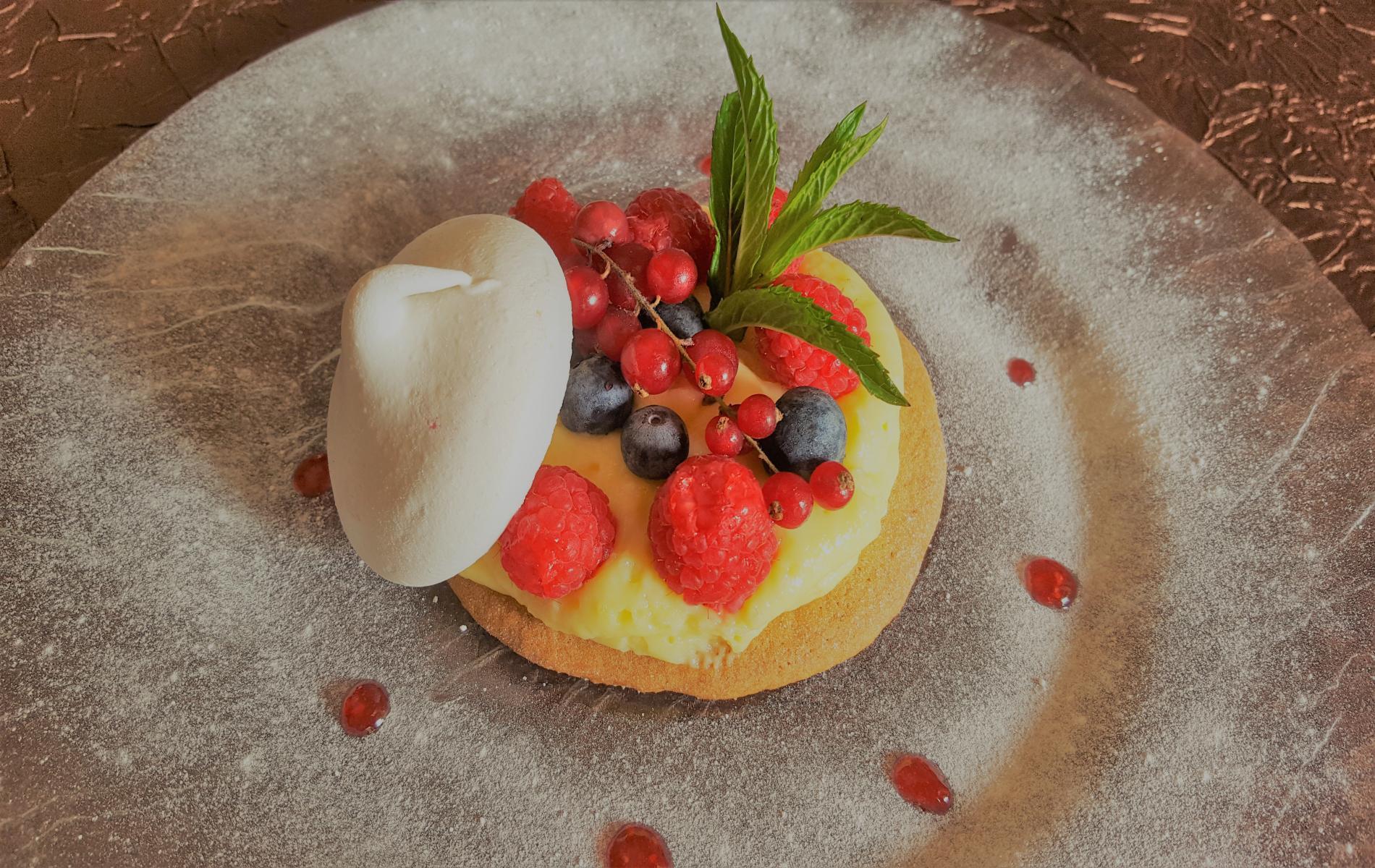 Palet sablé crème au citron et fruits rouges