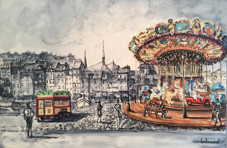 Le carrousel en couleurs