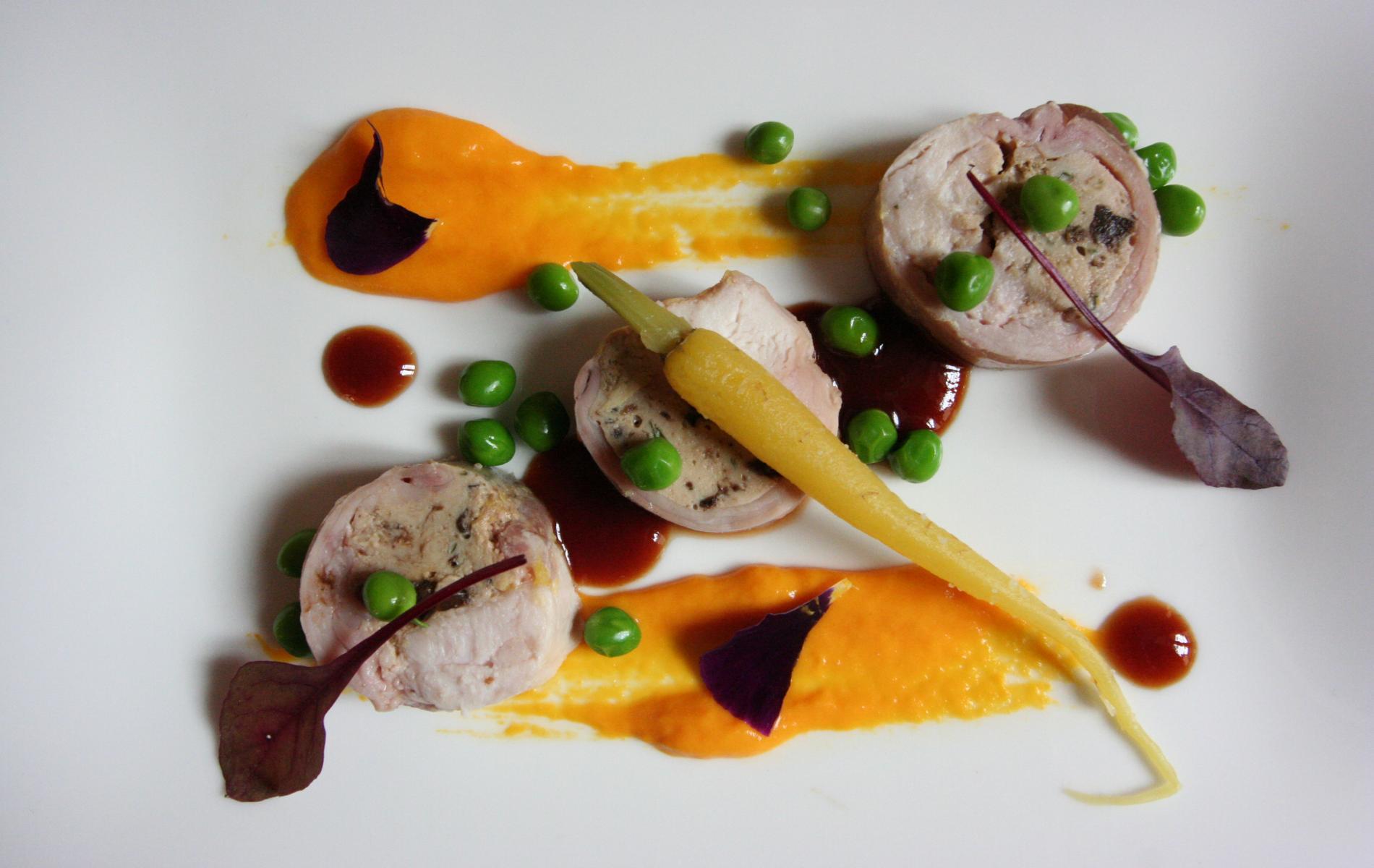 A starter served at the Restaurant du Tribunal in Mortagne