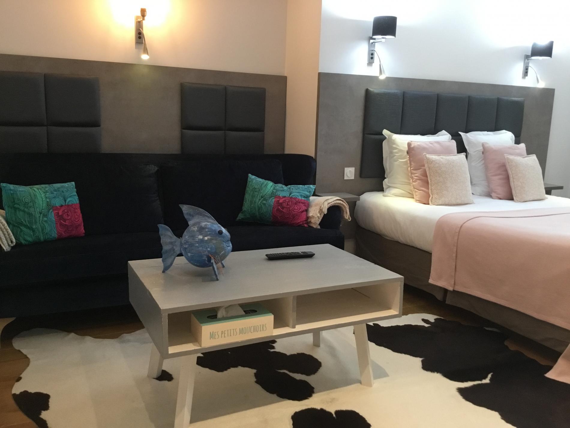Grande chambre avec terrasse privative