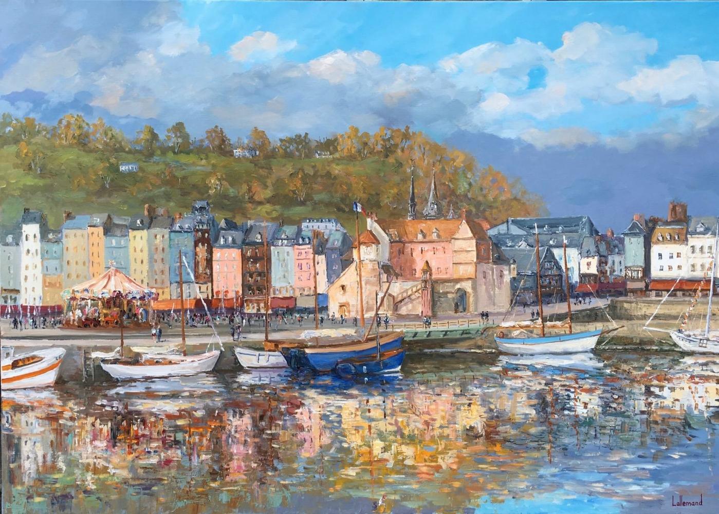 Reflets d'automne à Honfleur
