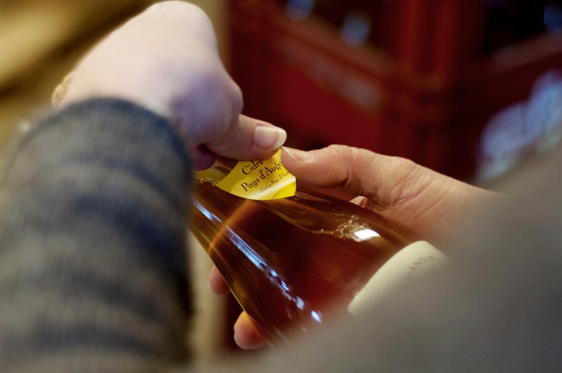 Etiquettage des bouteilles