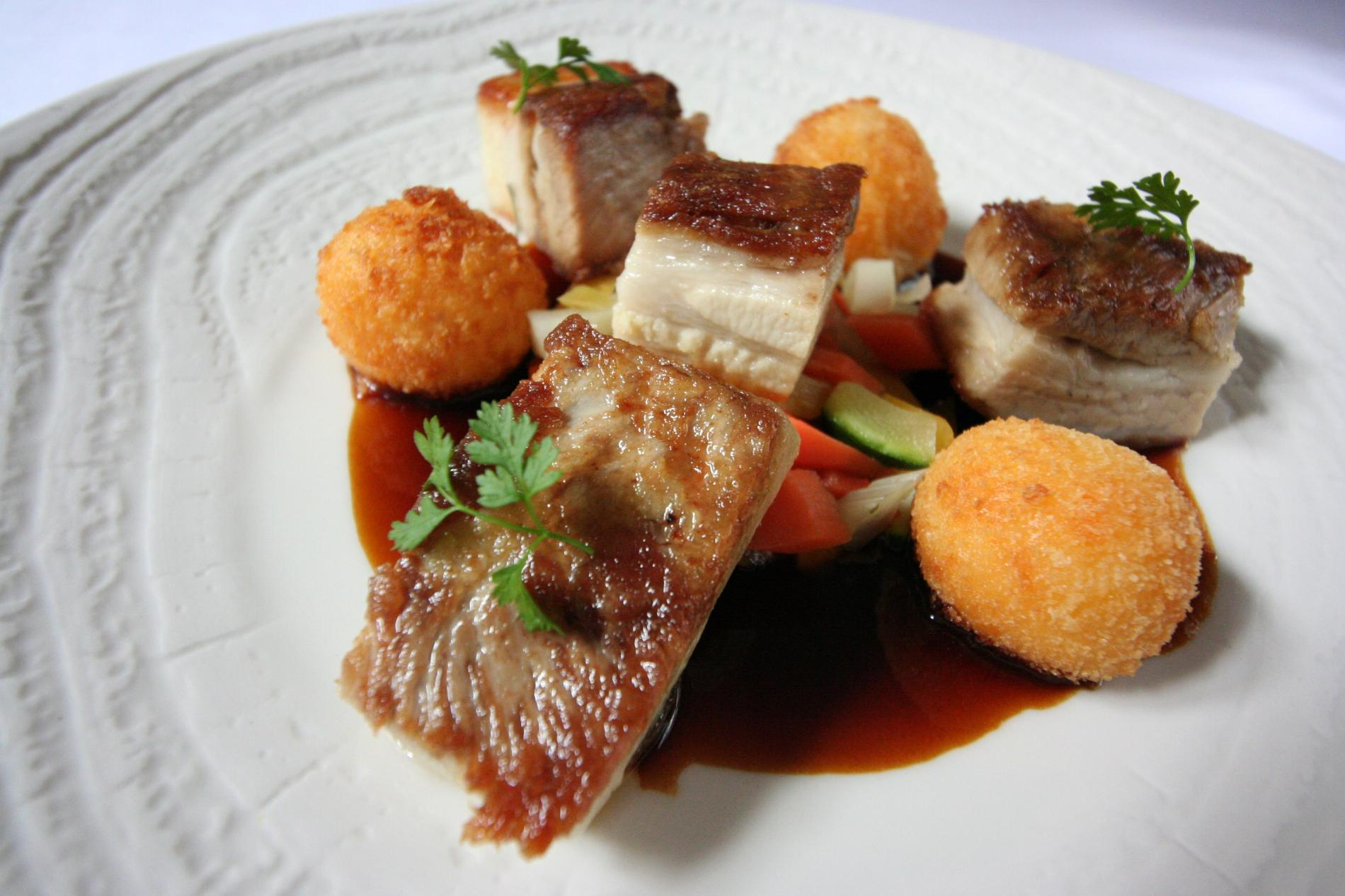 The pork belly from the Perche