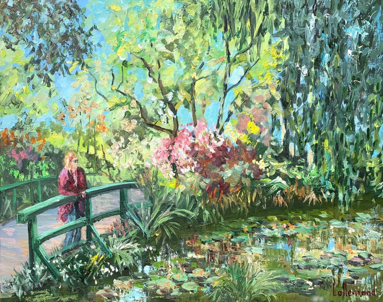 Regard sur l'étang
