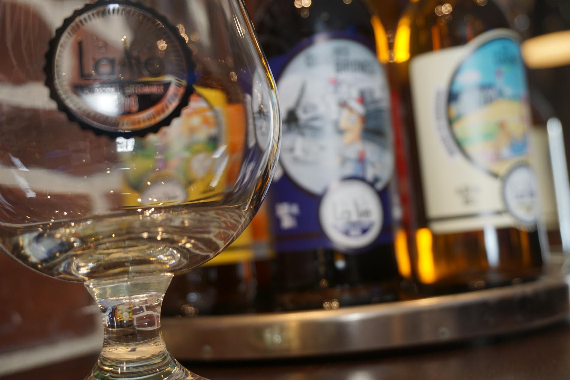 Norman Beer at the bar de la Couronne