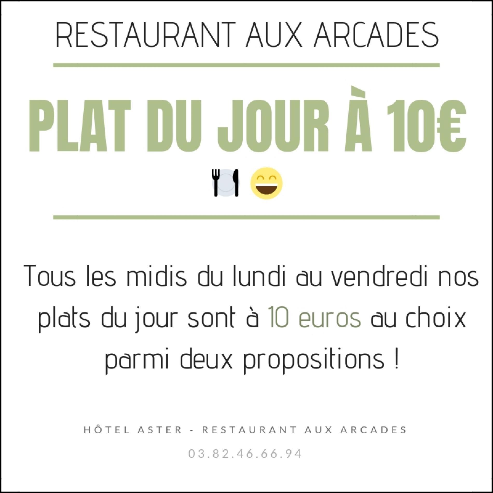 PLAT DU JOUR 10€