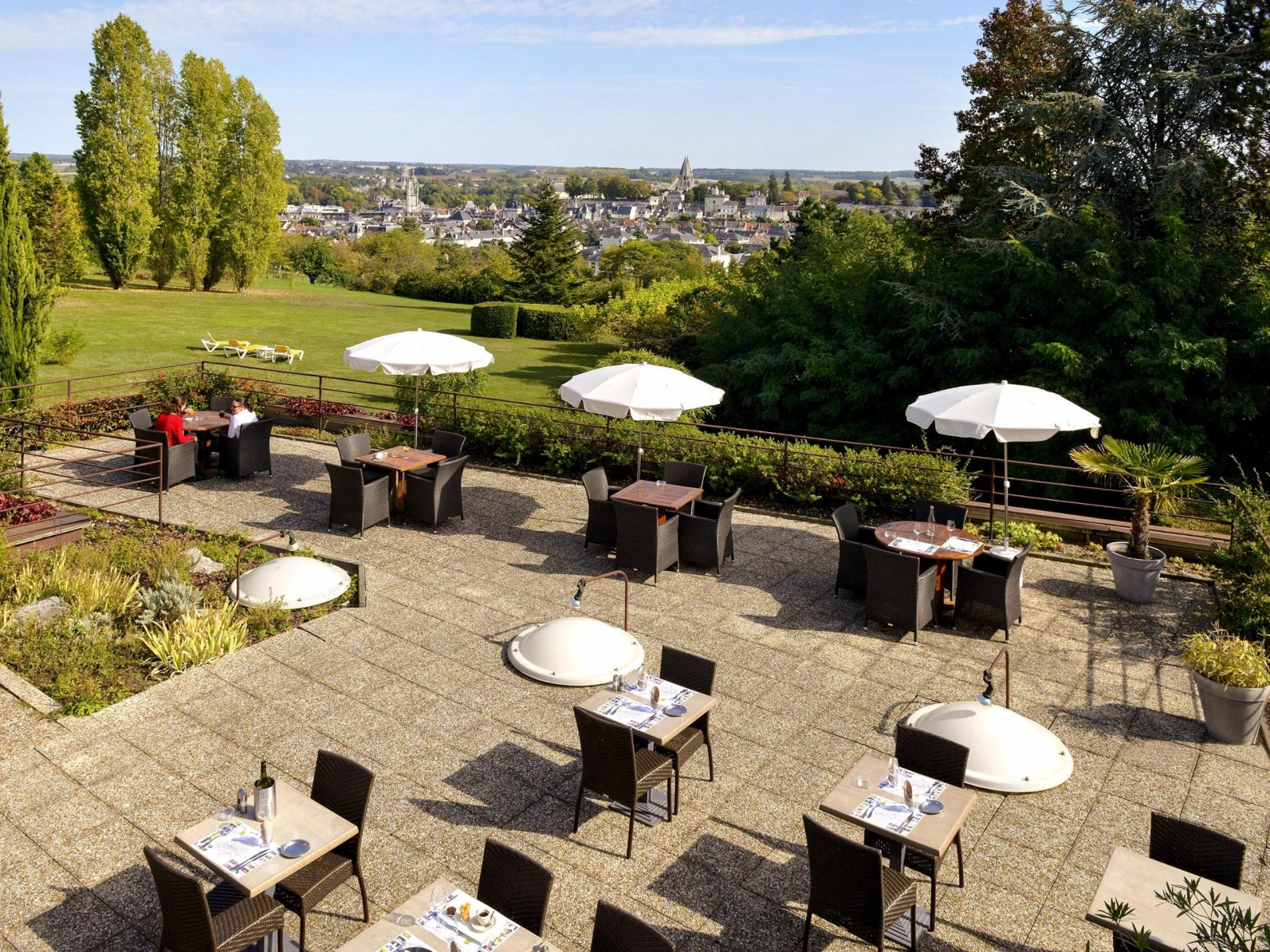 Les Terrasses Restaurant Of The Hotel Luccotel Loches