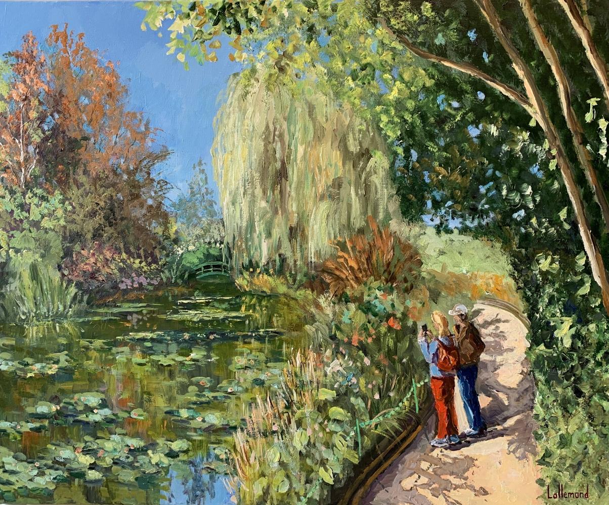 Ciel bleu sur l'étang