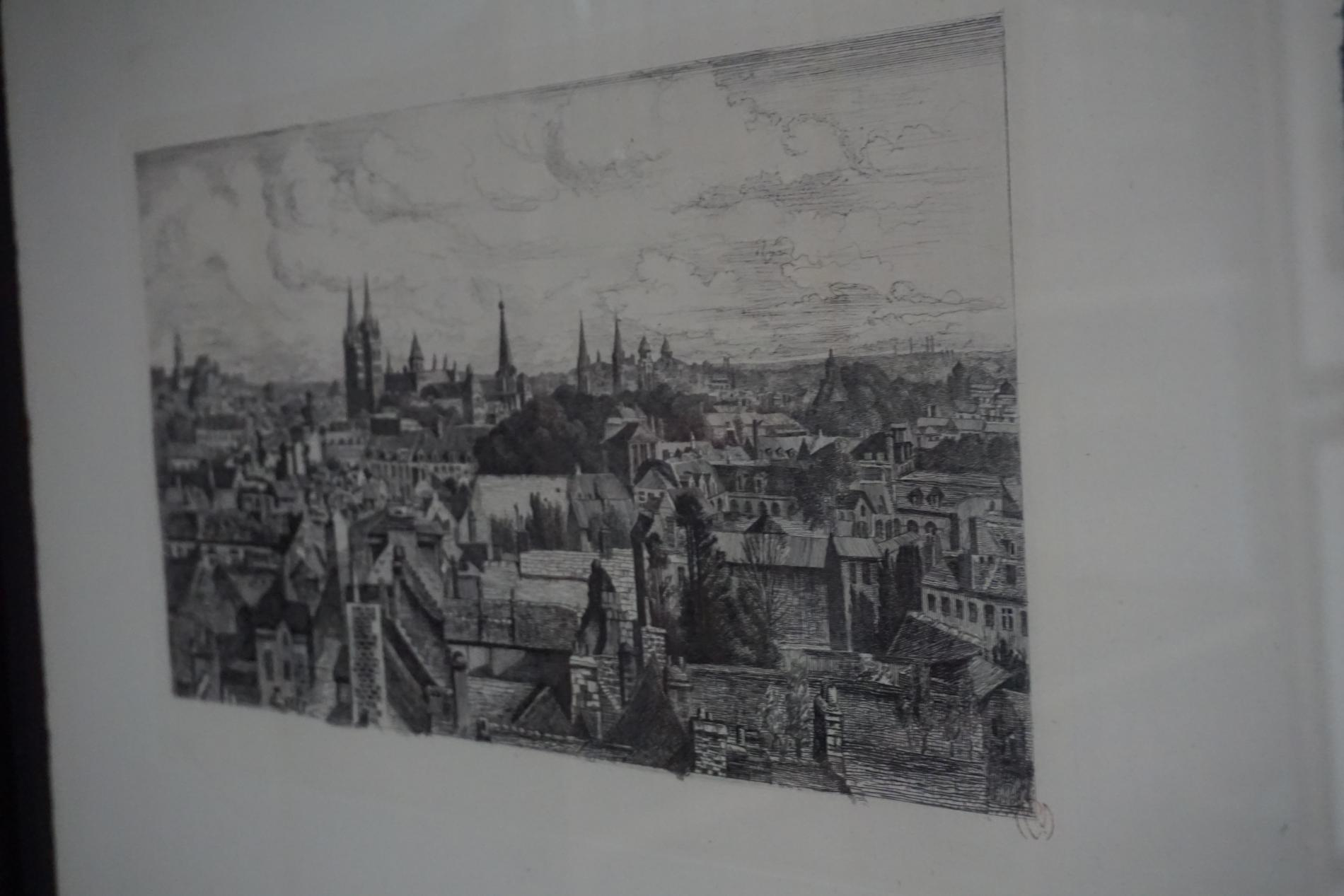 the city of CAEN in 1931, by Raphaël MANCHON