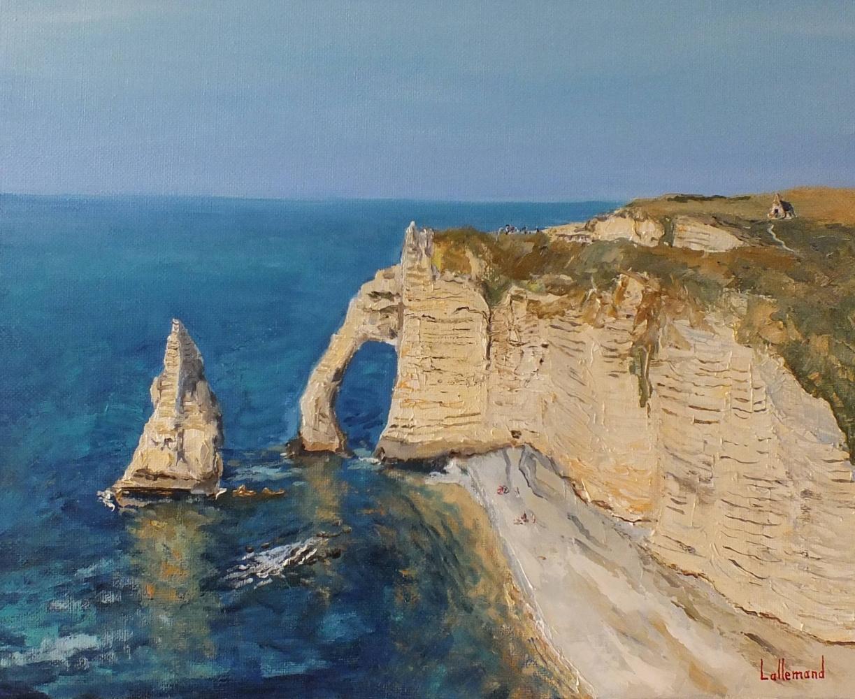 La falaise sur ciel bleu
