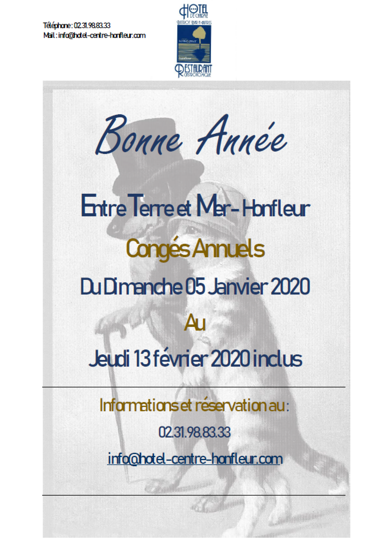 CONGÉS ANNUELS 2020