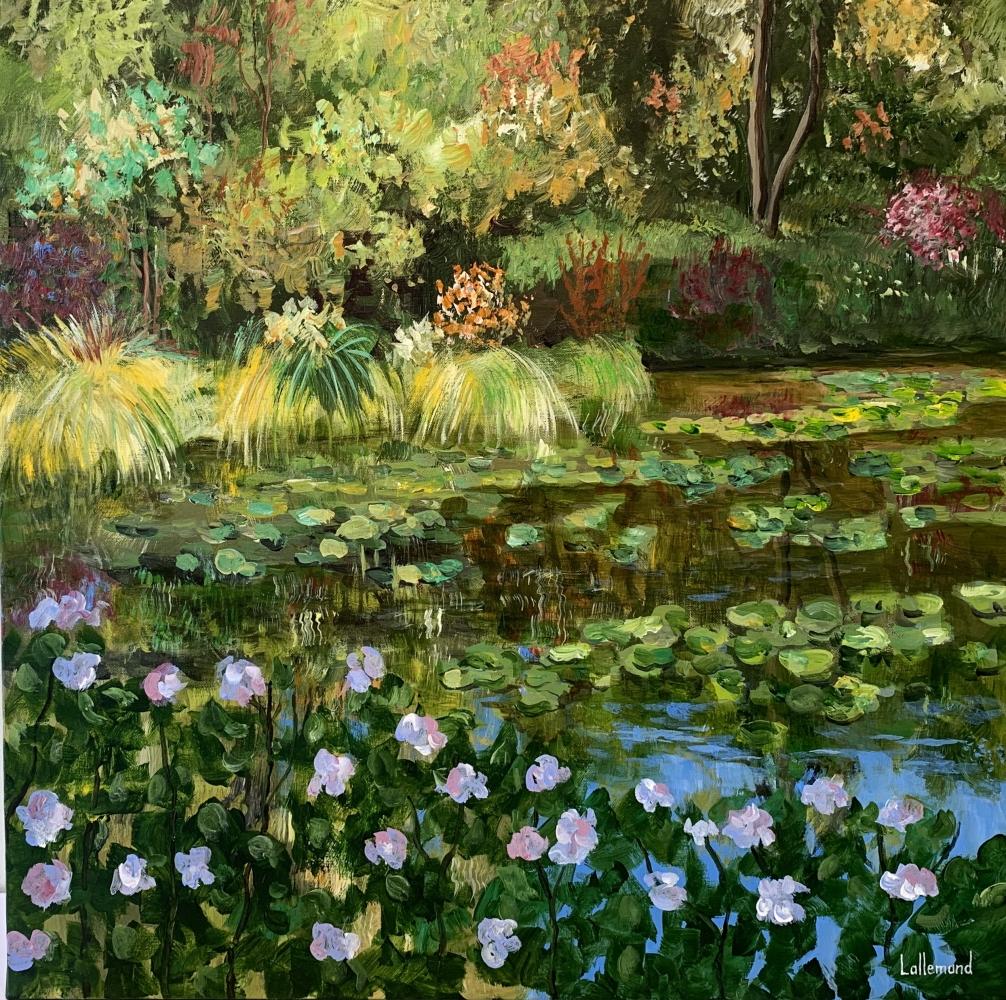 Bord d'étang fleuri
