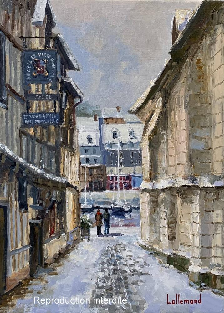 La rue de la Prison sous la neige