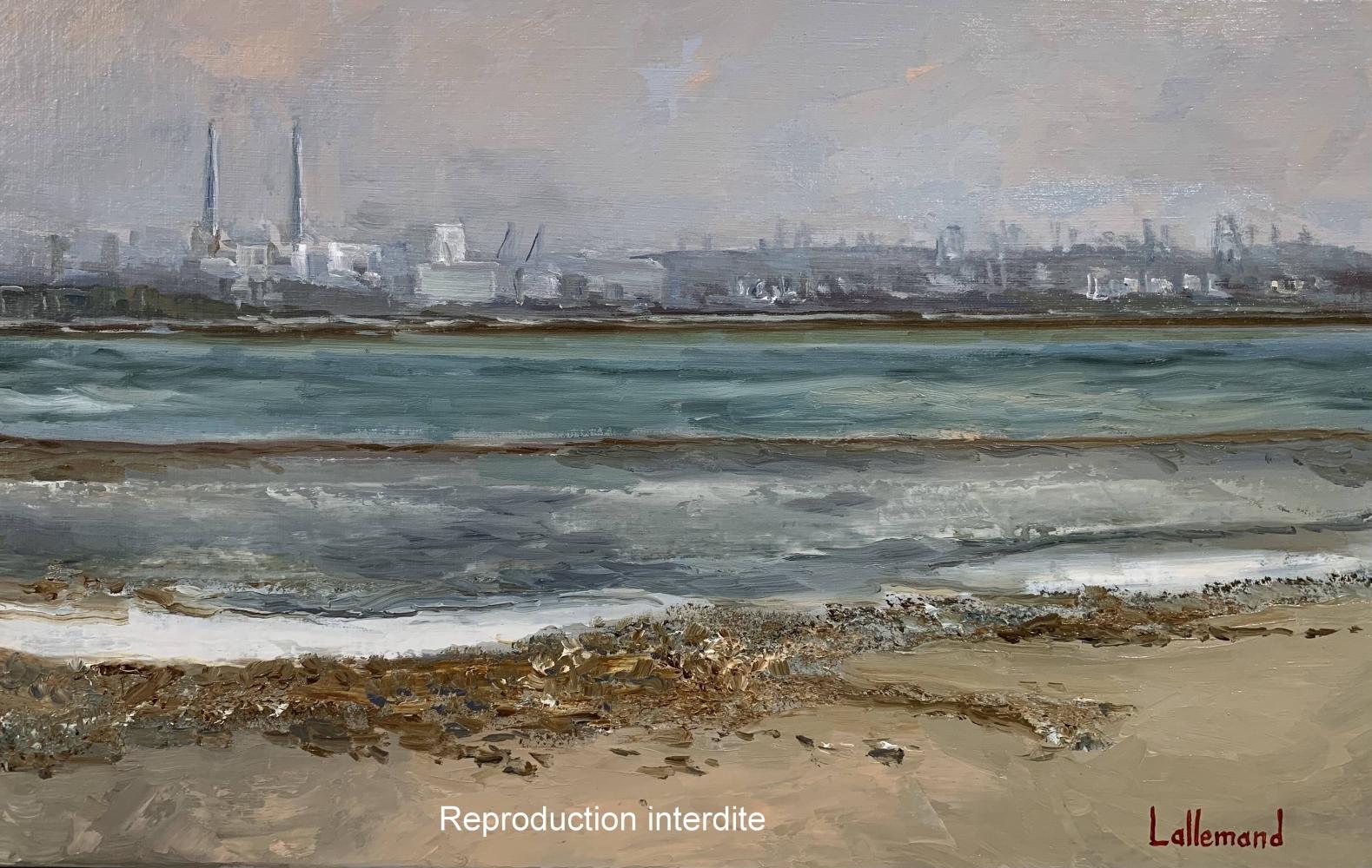 Vue de l'estuaire à Villerville