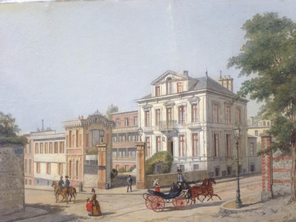 Tableau de L'hôtel des Phares en 1865 Hotel de charme Les Phares le Havre plage
