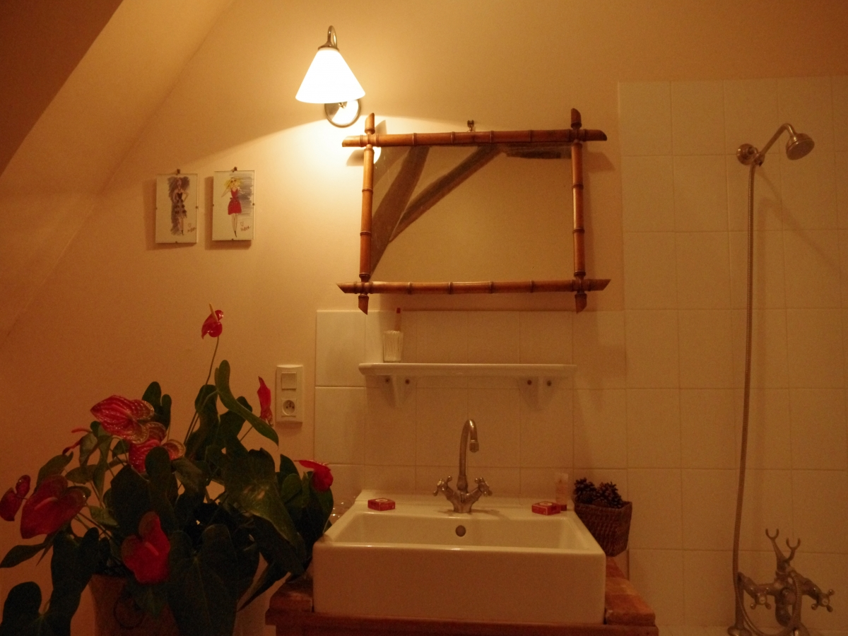 Bathroom of the bedroom Foulques de Chatenay